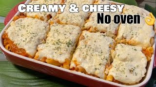 NO BAKED MACARONI  THE BEST With cheesy white sauce
