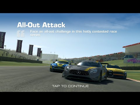 Real Racing 3 All-Out Attack Intro + 1a Speed Record @ Melbourne |