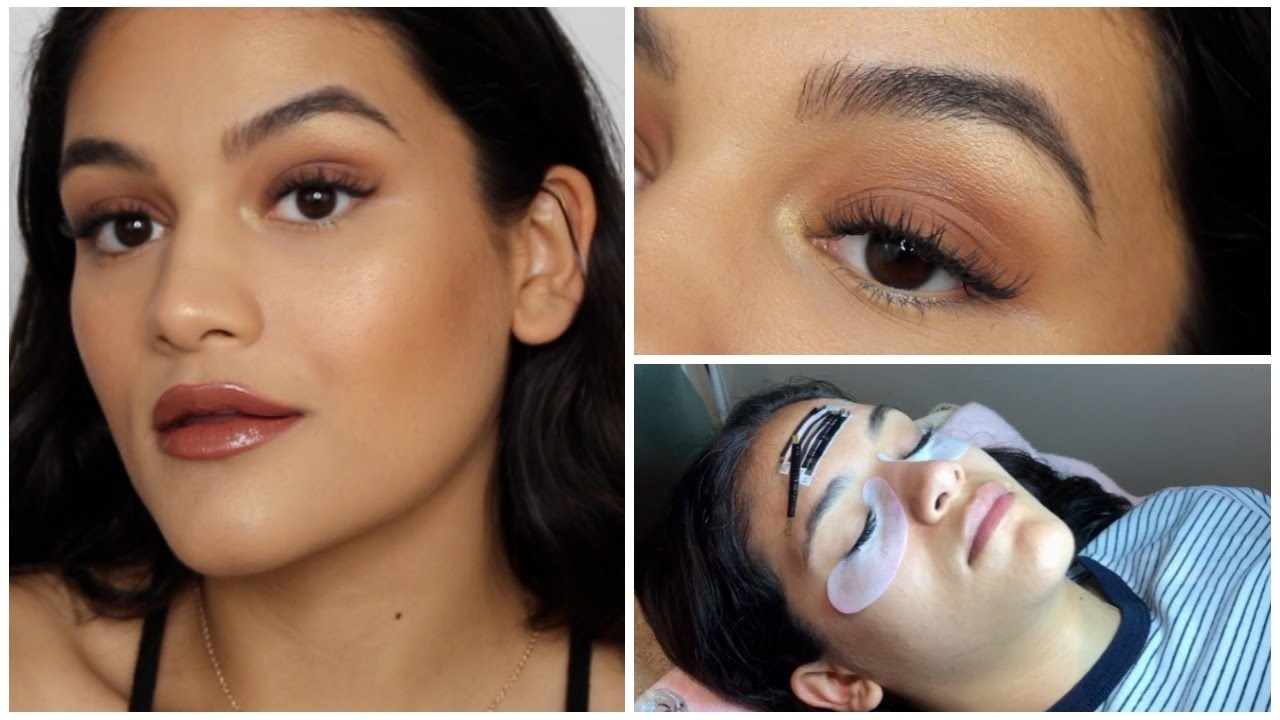APPLYING MAKEUP W/ LASH EXTENSIONS + my experience & tips