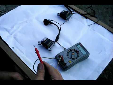 Как проверить катушку зажигания на триммере мультиметром