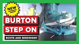 Burton Step On Snowboard Bindings Test Ride / Demo