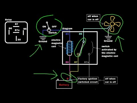 relay tutorial dual power source switching (example 2) youtubeWiring Diagram Further 5 Pole Relay Wiring Diagram Besides Wiring #17