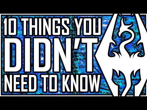 SKYRIM - 10 Things You DIDN'T Need To Know (but secretly need to know) - Surfing On A Bird?