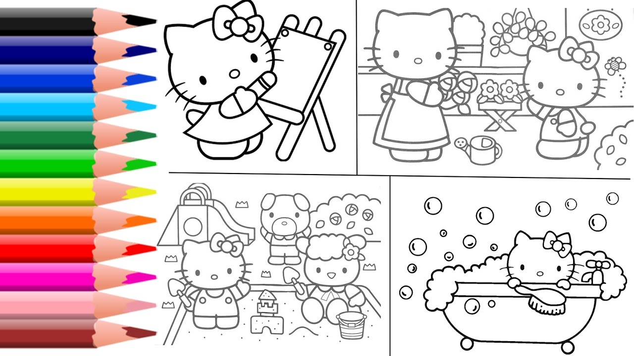 hello kitty coloring pages hello kitty coloring book toys