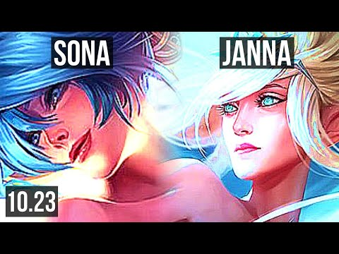 SONA & Ezreal vs JANNA & Ashe (SUPPORT)   Rank 2 Sona, 1/1/13, 700+ games   EUW Challenger   v10.23