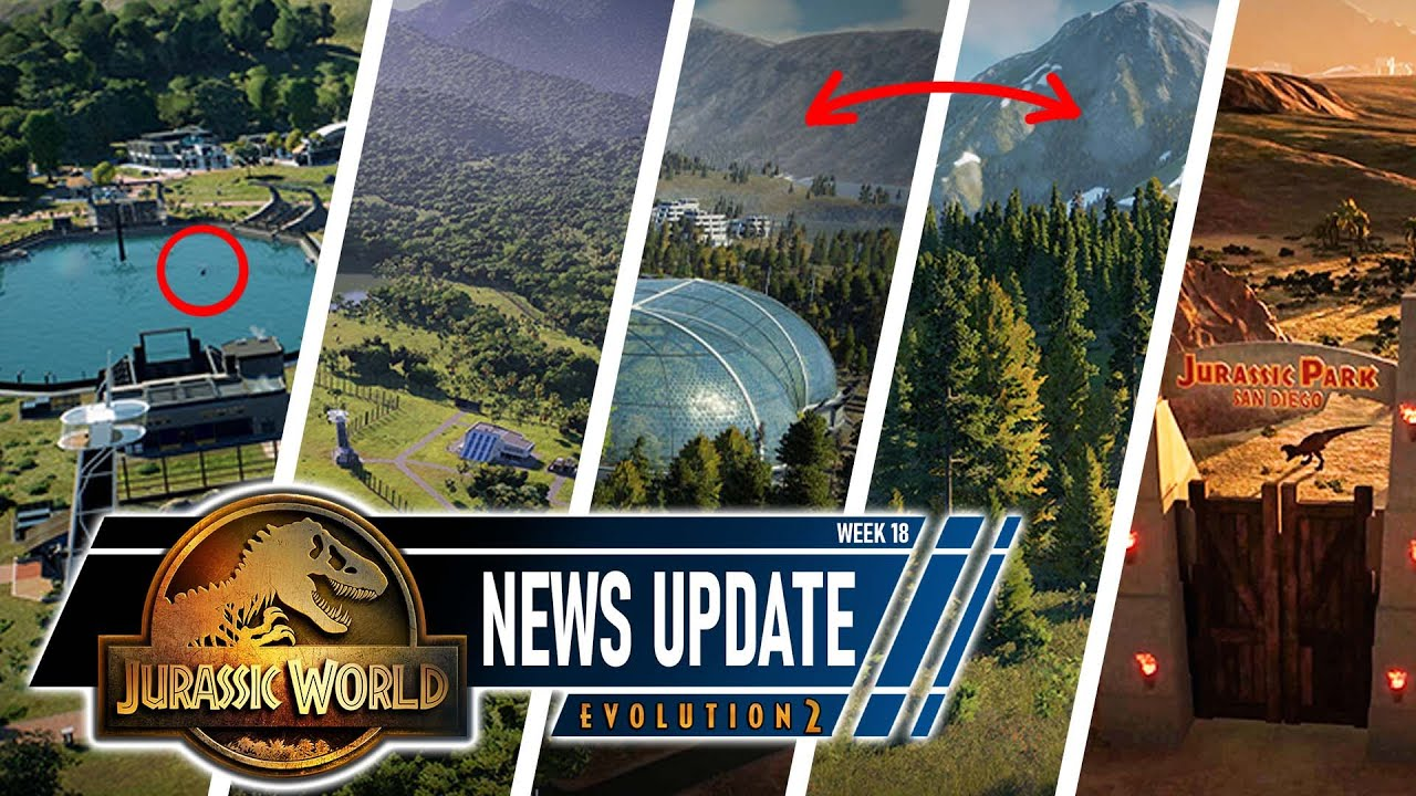 JWE 2 NEWS | What is the mystery aquatic? + ALL 5 BIOMES | Jurassic World Evolution 2 news