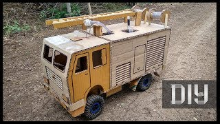 How to make Very Cool RC Fire Truck from Cardboard  (DIY Fire fire extinguisher)