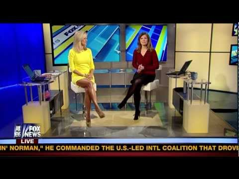 """Ainsley Earhardt """"WOW"""" What a dress! 2-28-13"""