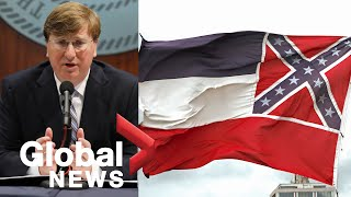 Mississippi Governor Signs Bill To Remove Flag With Confederate Emblem