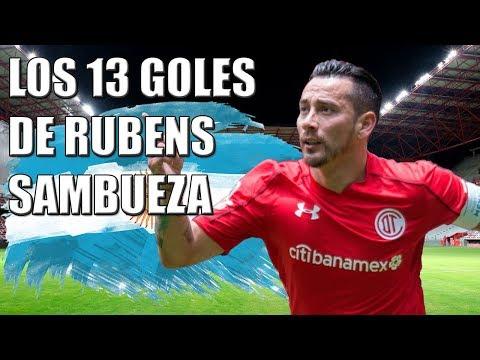 Los 13 goles de Rubens Sambueza con Toluca