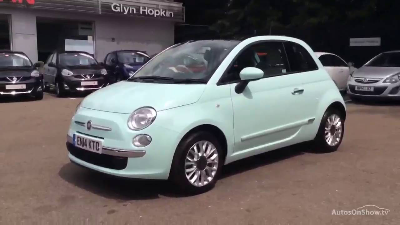 fiat 500 lounge green 2014 youtube. Black Bedroom Furniture Sets. Home Design Ideas