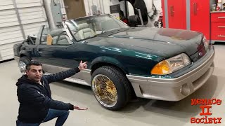 I put 24K Gold Dayton Wheels on our Foxbody Mustang 5.0!  *Menace II Society Build Update*