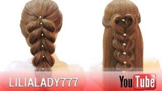 Французские косы  French braids  2 французские косы на резинках  Очень легкие прически!