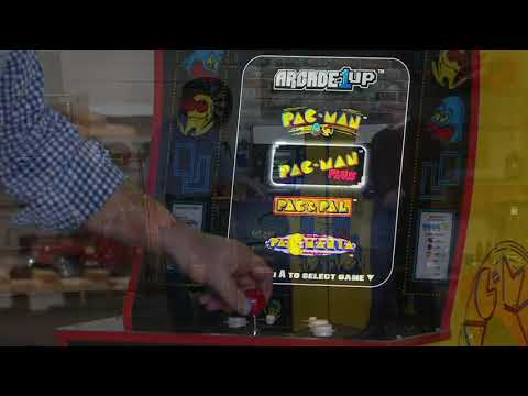 Arcade1Up 4in-1 Pac Man Home Arcade Machine With Riser On QVC