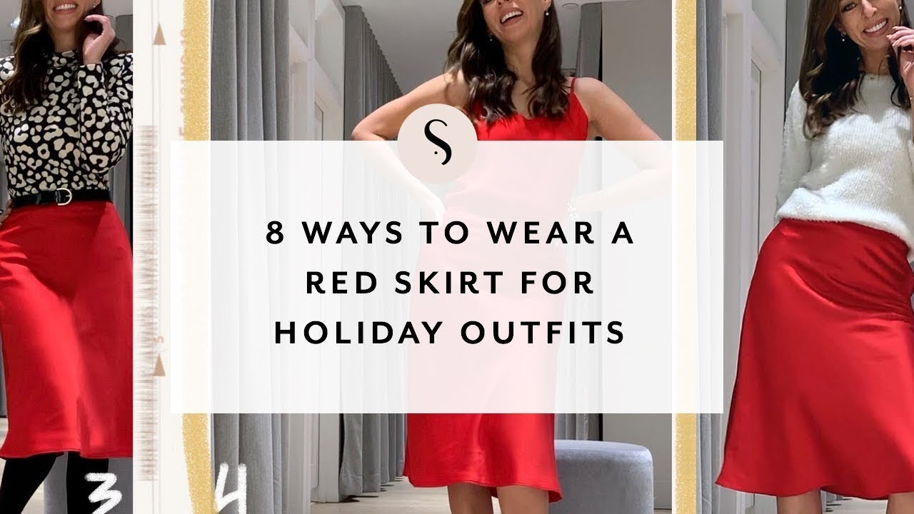 [VIDEO] - 8 Ways To Wear A Red Skirt For Holiday Outfits I Sydne Summer 6
