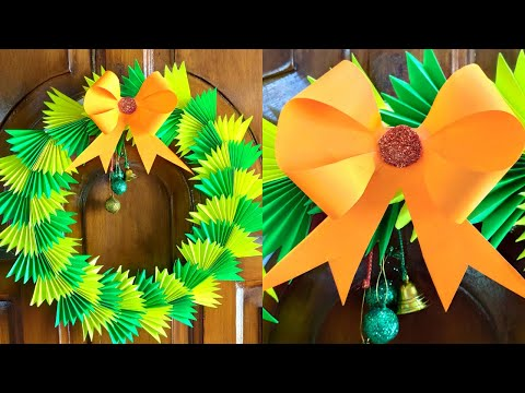 How to make a Christmas wreath ! Diy paper Christmas wreath ! Christmas decorations ideas (2019) !