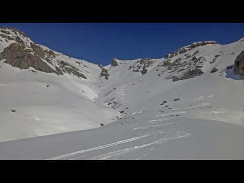 Slack Country Ski Ravin de la Montagnolle Serre Chevalier