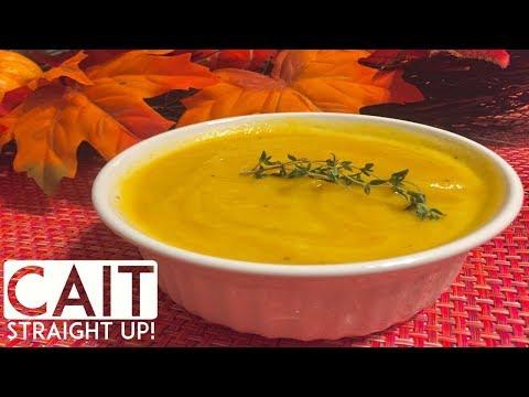 Crockpot Butternut Squash Soup Recipe | Cait Straight Up