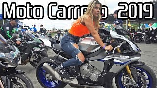 MOTOCARRERO 2019! - AMAZING Superbikes in Brazil, Loud exhausts & BURNOUTS!