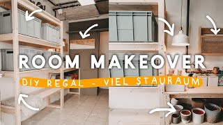 EXTREME ROOM MAKEOVER - Waschküchen Transformation + DIY Holz Regal | EASY ALEX