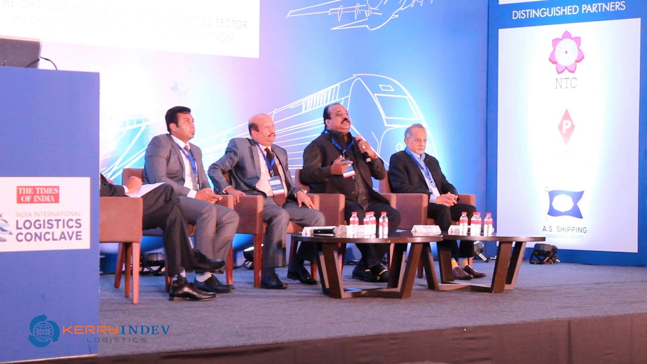 Kerry Indev Chairman Mr  Xavier Britto Addressing the India International  Logistics Conclave