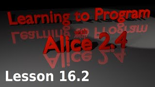 Alice Tutorial 2.4 Lesson 16.2 - Let Keyboard Control Subject (1 Of 2)