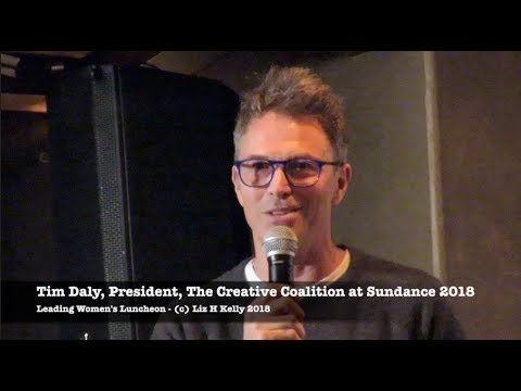 Sundance 2018 Tim Daly Praises Women at The Creative Coalition Leading Womens Luncheon