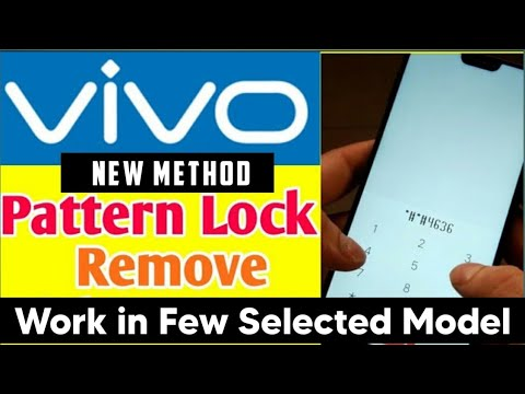 Vivo Mobile Pattern Lock Remove Any Model Without Computer No Data Loss New Trick 2019