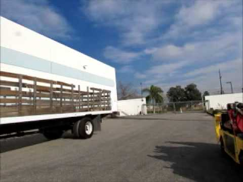 Sold! Ford F650 Stake Bed Utility Truck Air Brakes Diesel Manual Bidadoo.com