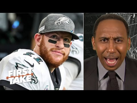 Stephen A. gets heated talking about Carson Wentz and Eagles receivers | First Take