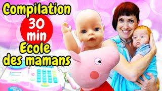 Compilation de meilleurs vidéos avec poupon - Ecole des mamans. La vie des bébés