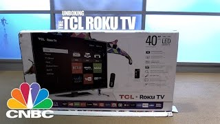 TCL Roku TV Unboxing | CNBC