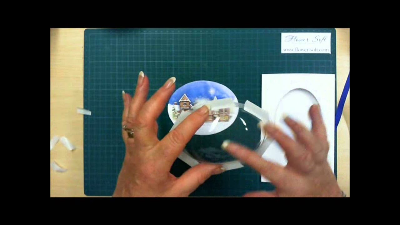 Snow Globes By Flower Soft Card Making Tutorial YouTube