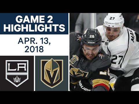 NHL Highlights | Kings vs. Golden Knights, Game 2 - Apr. 13, 2018