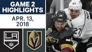 NHL Highlights   Kings vs. Golden Knights, Game 2 - Apr. 13, 2018