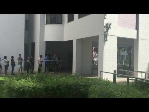 Bus crash at Block 689B Choa Chu Kang Drive (2)