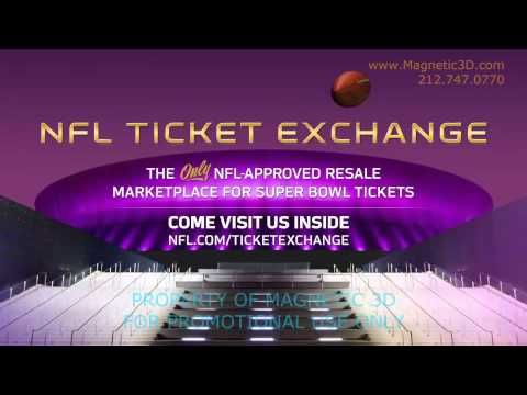 Magnetic 3D - Super Bowl XLVII - NFL Ticket Exchange Promo