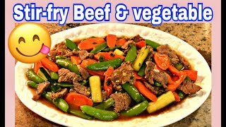 Stir fry beef with vegetable | Khmer food | Delicious food | healthy recipe | Asian food