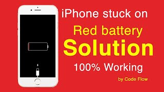 iphone stuck on red battery screen 100% working-tested on iPhone 4, 4s, 5, 5s, 6, 6s, 6 plus, 8, X