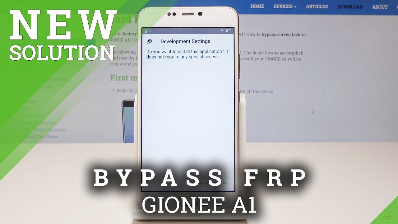 How to Bypass Google Verification in GIONEE A1 - Unlock GIONEE FRP