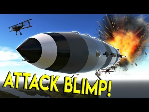 HUGE WW1 ATTACK BLIMP & BIPLANES!- Simple Planes Creations Gameplay - EP 18