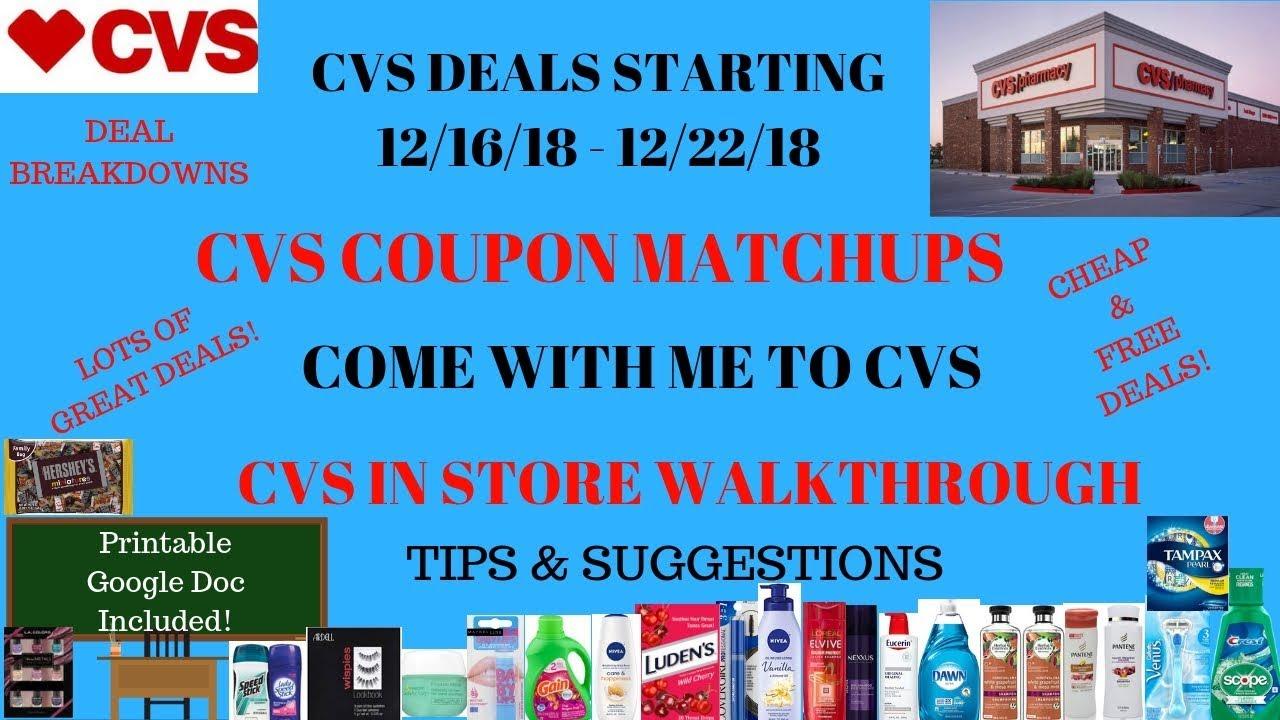 cvs coupon deals starting 12  16  18