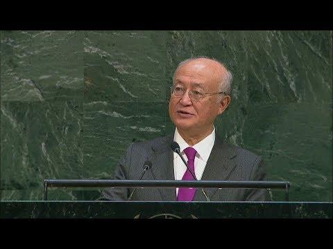 IAEA Director General Yukiya Amano at the UN General Assembly