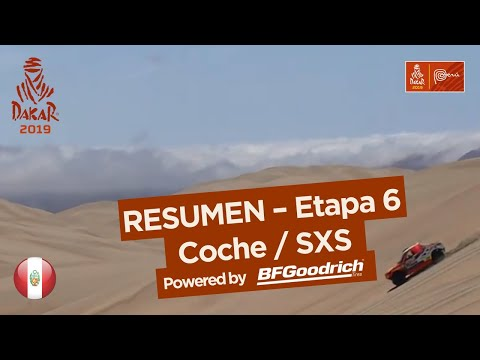 Resumen - Coche/SxS - Etapa 6 (Arequipa / San Juan de Marcona) - Dakar 2019