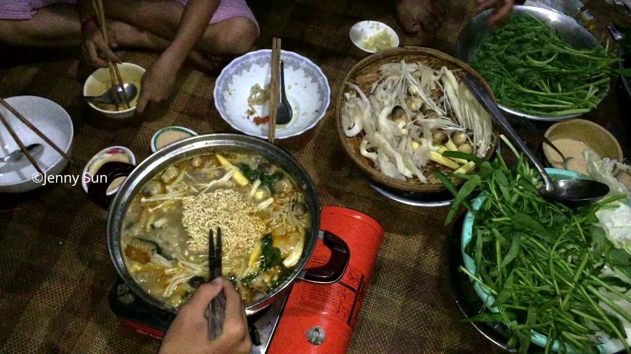 Asian Family Food, Eating Black Muscovy Duck Soup , Country Food In My  Village, Cambodian Food