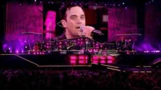 "Robbie Williams - ""Back for Good"" - live ! with Mark Owen."