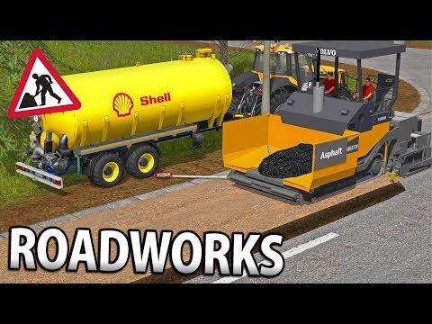 ROADWORKS IN FARMING SIMULATOR 17 | LAYING THE ASPHALT