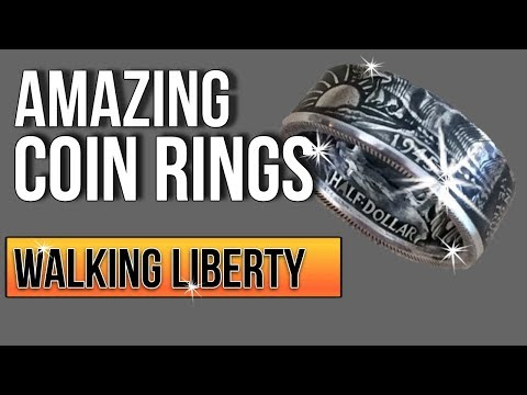 Making A Coin Ring From A Walking Liberty USA Dollar