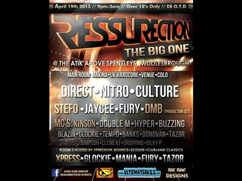 Dj Nitro Mc Kinson & Glockie @ Ressurection 19.04.2013