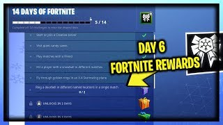 "NEW ""DAY 6"" 14 DAYS OF FORTNITE FREE REWARDS (New Free Daily Holiday Challenges)"